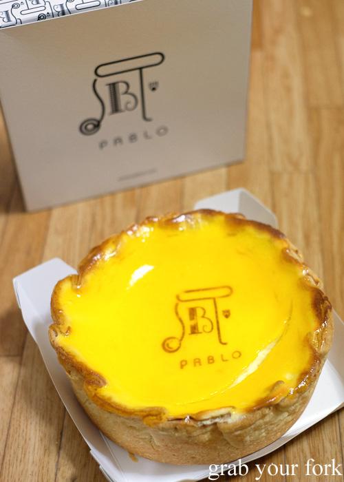 PABLO fresh baked cheese tart from Shinjuku Station, Tokyo