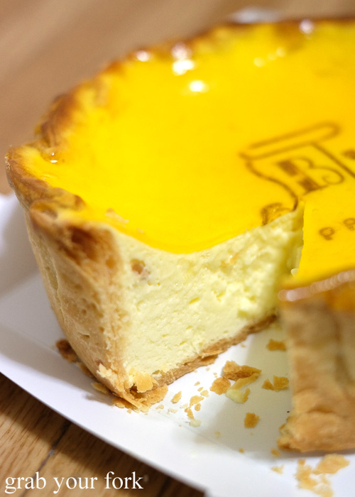 Inside the PABLO fresh baked cheese tart from Shinjuku Station, Tokyo