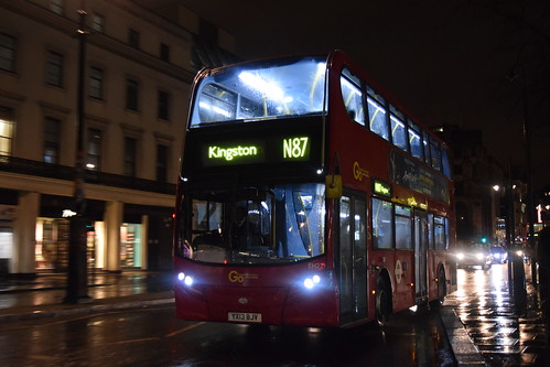 Go-Ahead London General EH27 on Route N87, Charing Cross Station