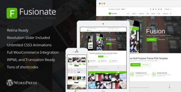 Themeforest Fusionate v1.0 – Retina Multi-Purpose WordPress Theme