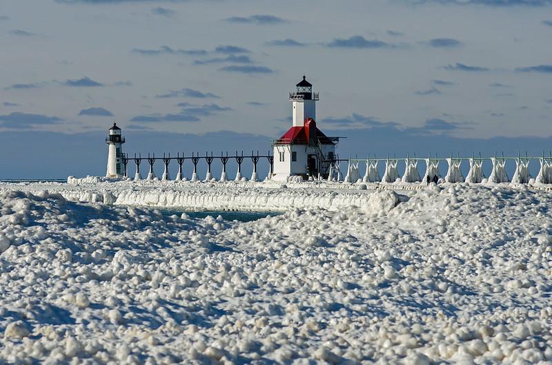 Winter View of the St. Joseph Range Lights