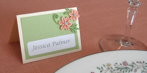 Quilled Place Card Setting