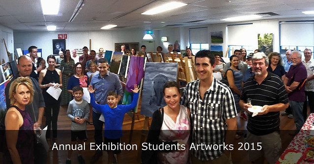 Annual Exhibition Students Art works 2015 Panorama