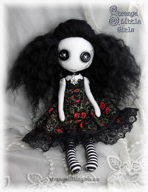 Gothic art doll - Verity Wallflower