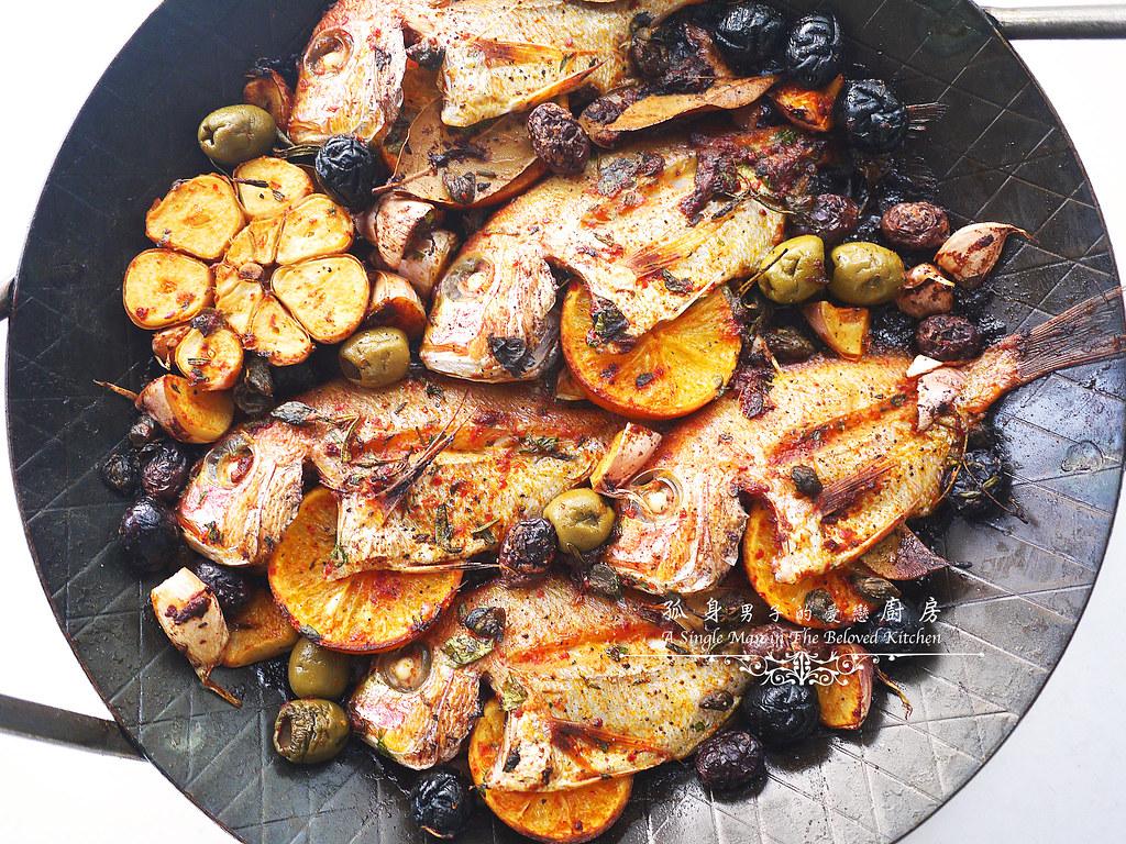 孤身廚房-橄欖柑橘香烤赤鯮17