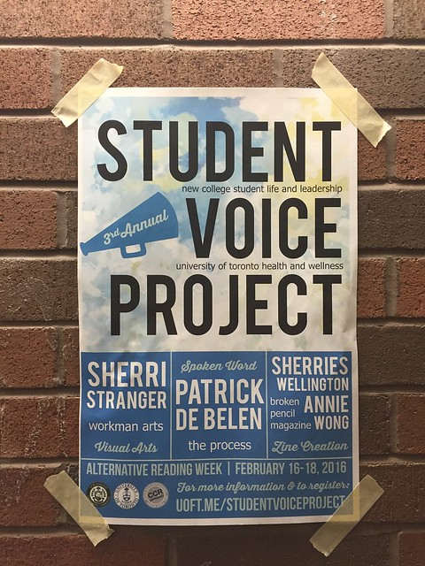 Student Voice Project poster on a wall