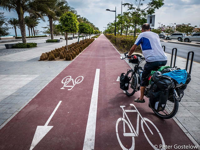 Cycle lane in Muscat!