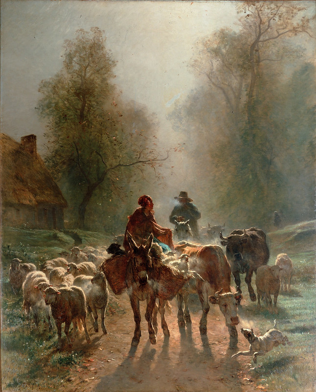 Constant Troyon - On the Way to the Market (1859)