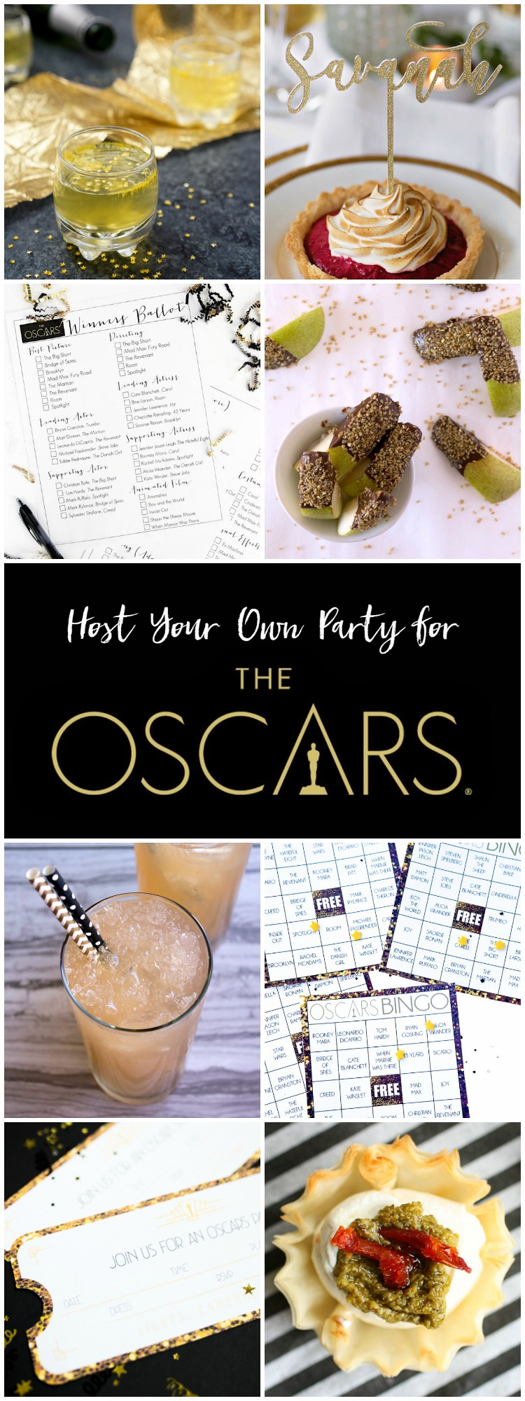 Oscars party recipes and crafts