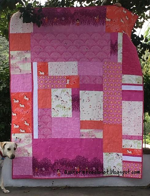Wee Wander Pink quilt back