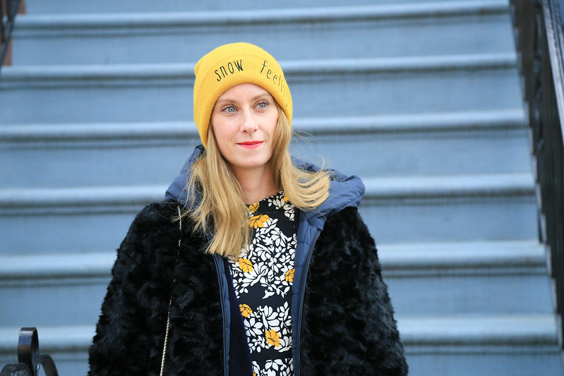 bonnet jaune zara