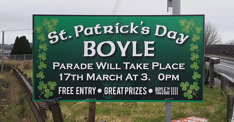 St. Patrick's Day Parade sign