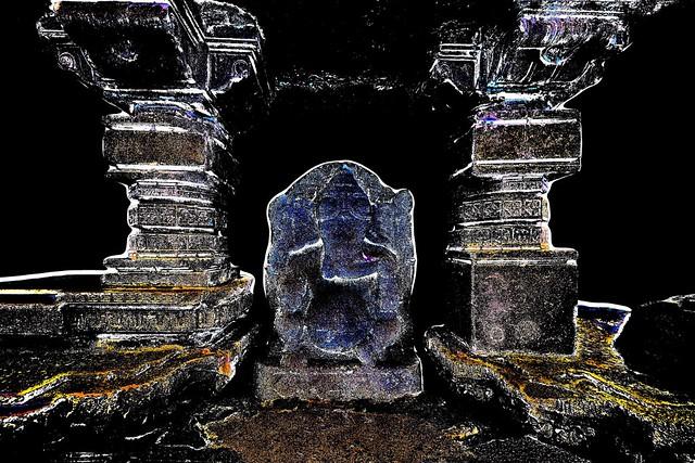 India - Telangana - Warangal - Warangal Fort - Ganesha - 2d