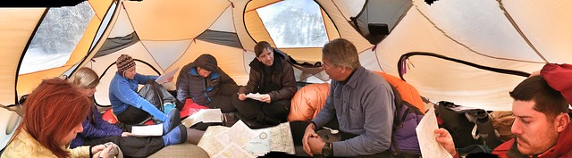 Inside Ned's Tent for a Topo Navigation lesson
