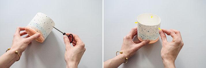 DIY Maceta efecto cerámica