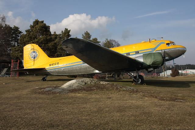Addison Aviation Inc Douglas C-47B-35-DK Skytrain N41CQ Vallentuna 160329