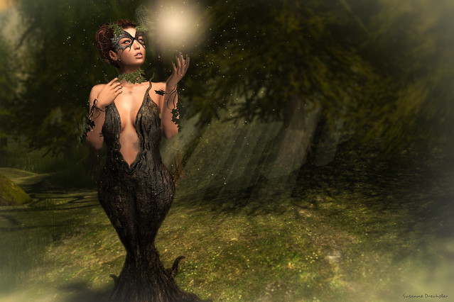 AiShA - Dryad Dress, Ivy Collar, Bracelets and Dryad Mask @ Fantasy Faire