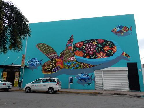 Playa del Carmen - muurschildering