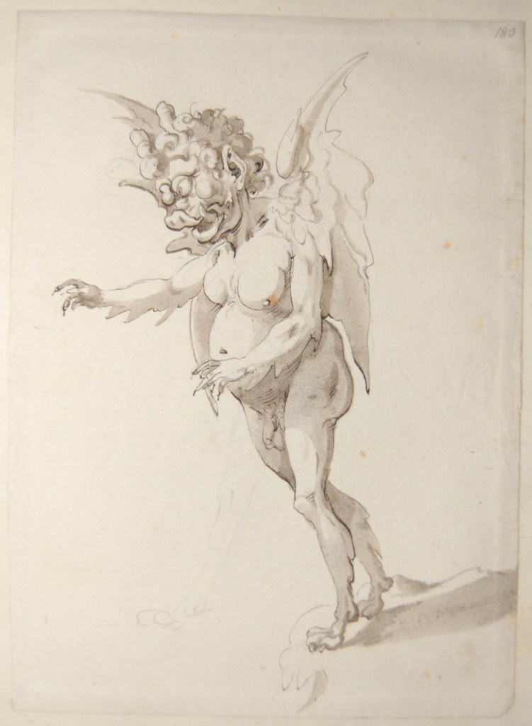 Arent van Bolten - Monster 180, from collection of 425 drawings, 1588-1633