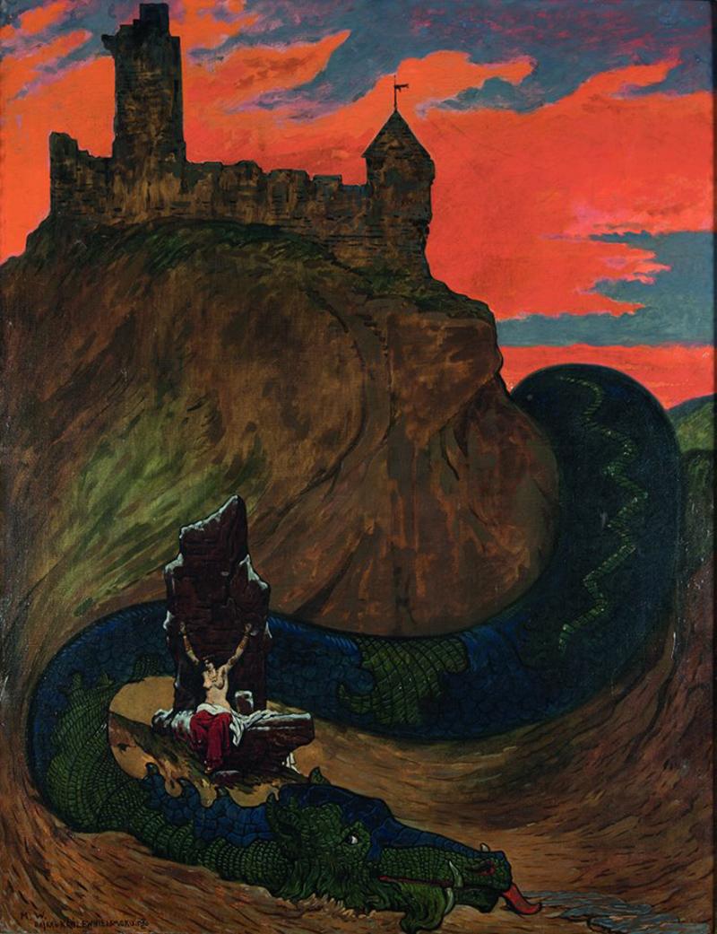 "Marian Wawrzeniecki , ""Fairy tale of the princess and the dragon"" , 1904-1908"