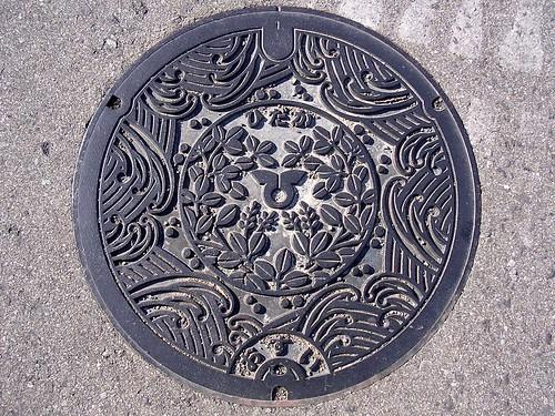 Hidaka Wakayama, manhole cover 2 (和歌山県日高町のマンホール2)