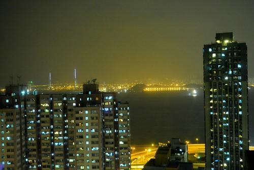 グランドシティホテル部屋から夜景が見える