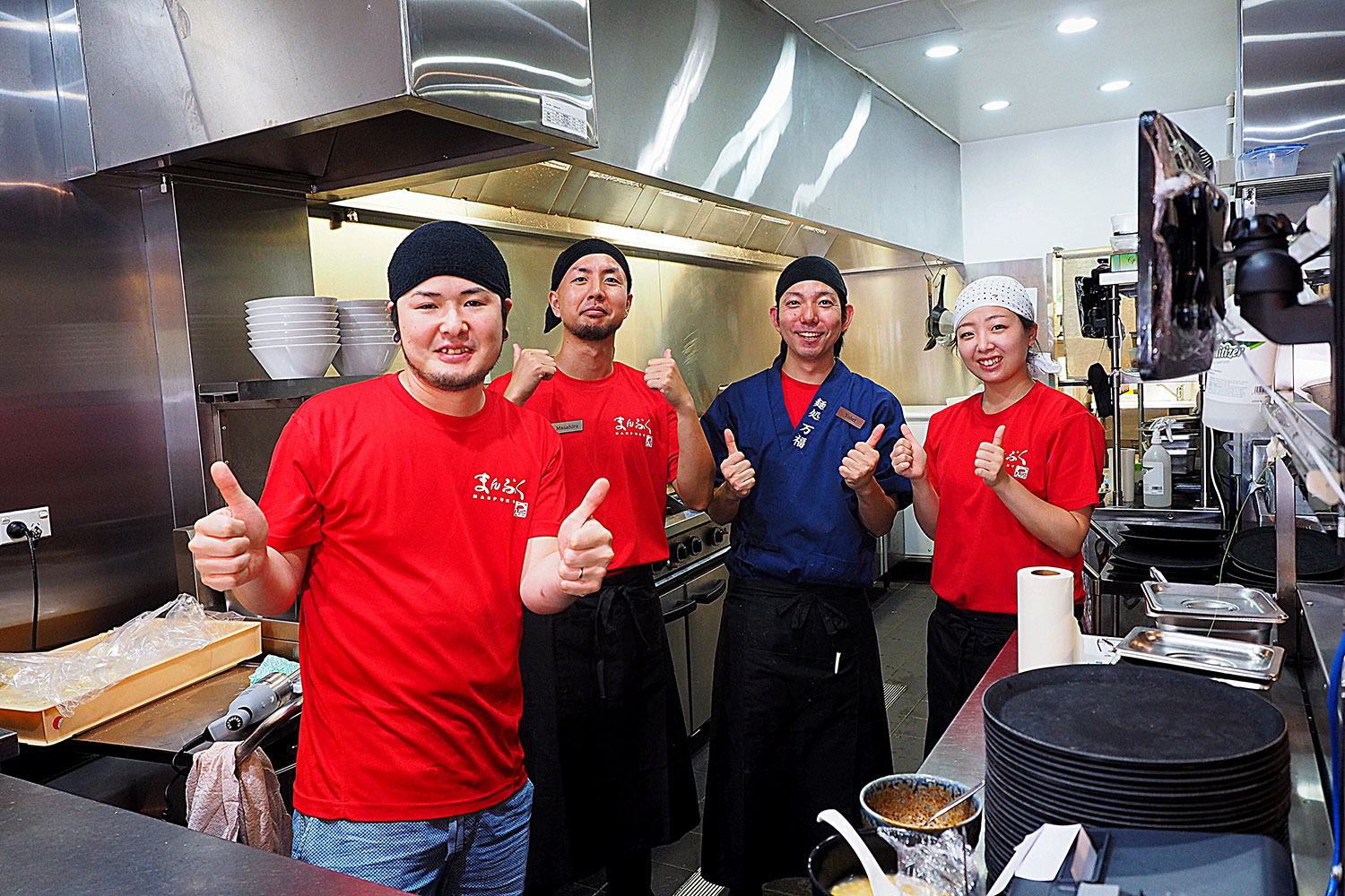Chef Suzuki from Manpuku Ramen, and his team: Manpuku, Chatswood. Sydney Food Blog