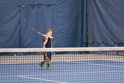 Lincoln's Tennis Lesson