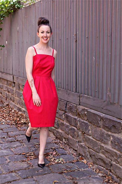 Red Vintage Dress #4