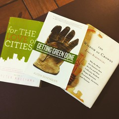 These are three of the books we will be reading in 2016 at #ArlingtonProud. What books would you suggest for the other 9 months?  Make suggestions related to our 12 priorities at www.arlingtonproud.org 1. For The Love Of Cities. 2. Getting Green Done. 3.