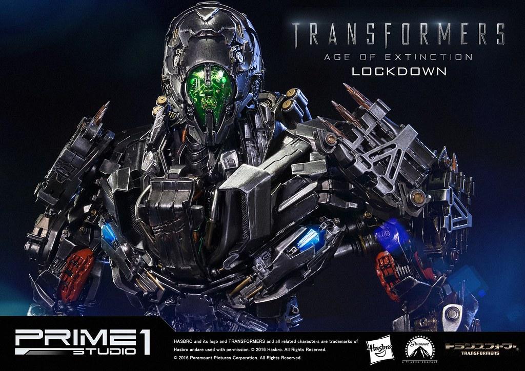 Prime 1 Studio 變形金剛4:絕跡重生【禁閉 & 鐵齒】Lockdown with Steeljaw 全身雕像