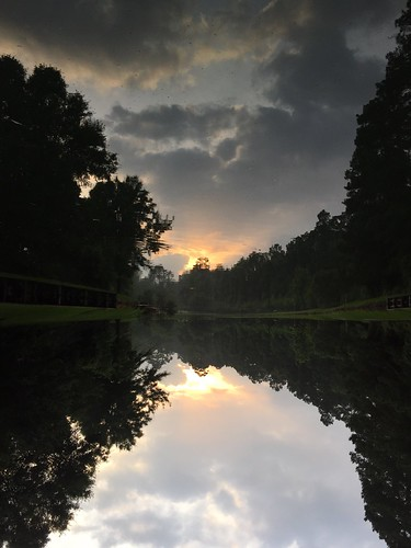 park reflection water clouds sunrise river stream upsidedown kingwood deerridge