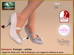 Bliensen - Unicorn - pumps - white Kopie