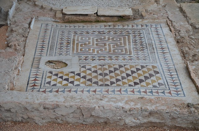 Geometric mosaic, 3rd - 4th century AD, Villa romana de Fuente Álamo, Spain