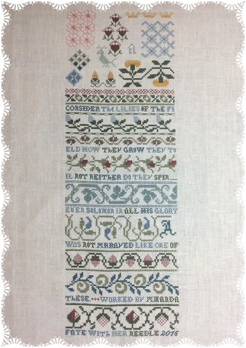 Flowers of the Field by Eileen Bennett of The Sampler House