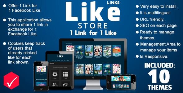 CodeCanyon Like Store Links v1.2.0 - 1 Link for just 1 Like