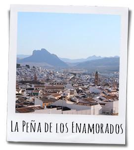 Bij de Arco de los Gigantes kijk je uit over de omgeving en de Peña de los Enamorados