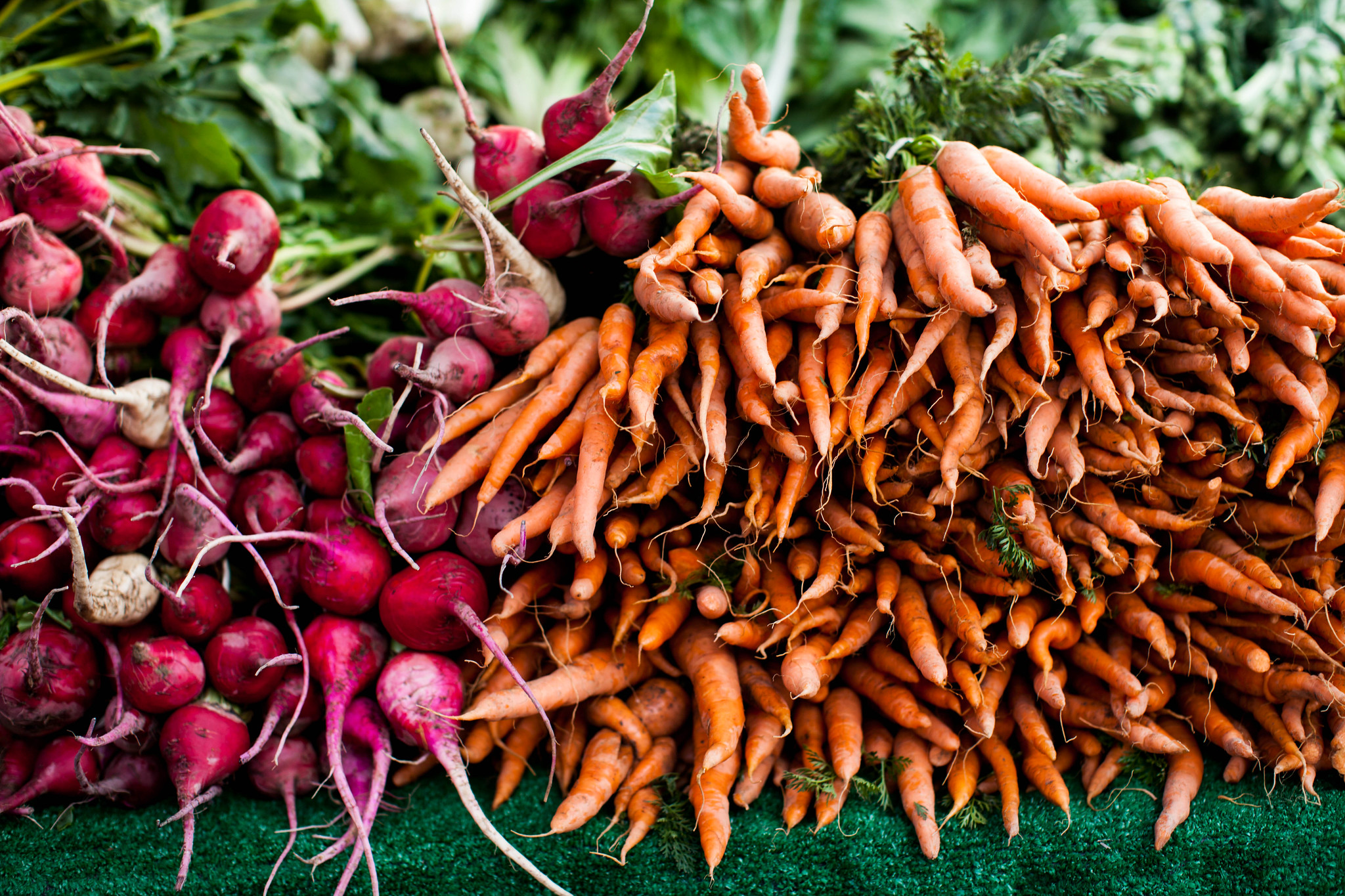 carrots at the farmer's market
