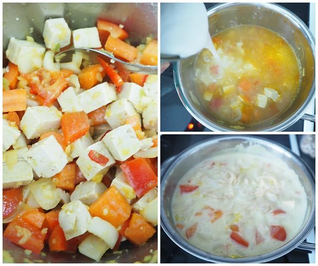 tulinenthaikeitto, thaikeittoP2147498, tulinen thaikeitto, lämmin keitto, kasvis keitto, mausteinen, spicy, warm, asian food, aasialainen ruoka, food, thai food, thairuoka, kasvisruoka, vegetarian food, sitruuna, korianteri, tofu, thai soup, resepti, recipe, ruoka ohje,
