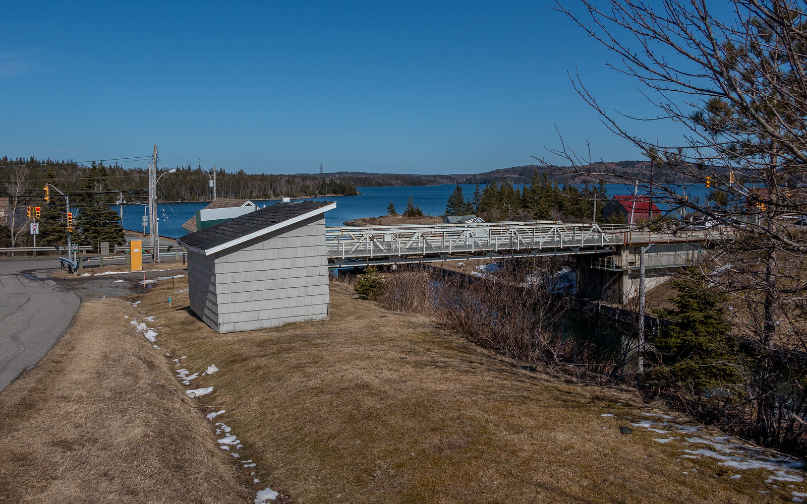 Swing bridge (looking toward the Bras d'Or Lake).