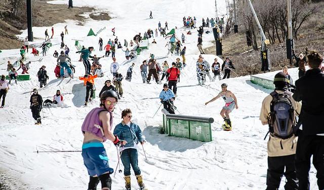 Spring skiing in Utah