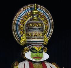 Kathakali actor headdress