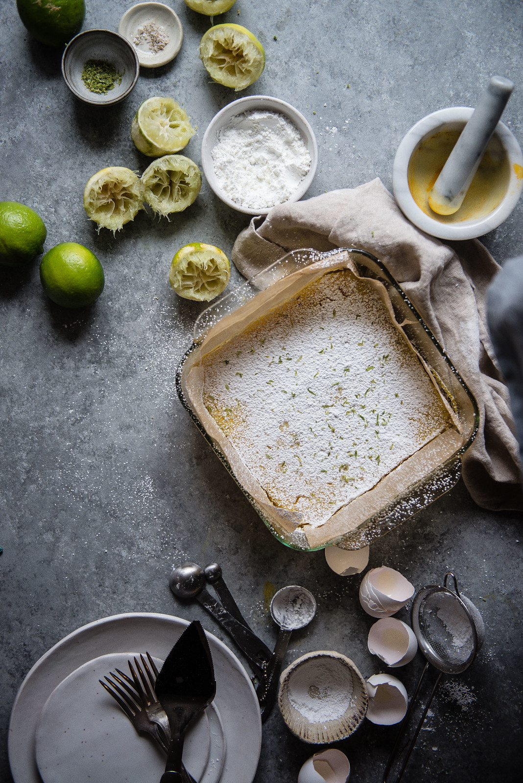 lime bars with saffron from #sweeteroffthevine