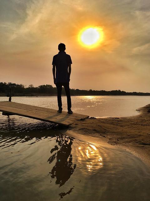 Before Sunset Moment at Shomeshwari River