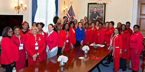 Congresswoman Pelosi meets with the Delta Sigma Theta