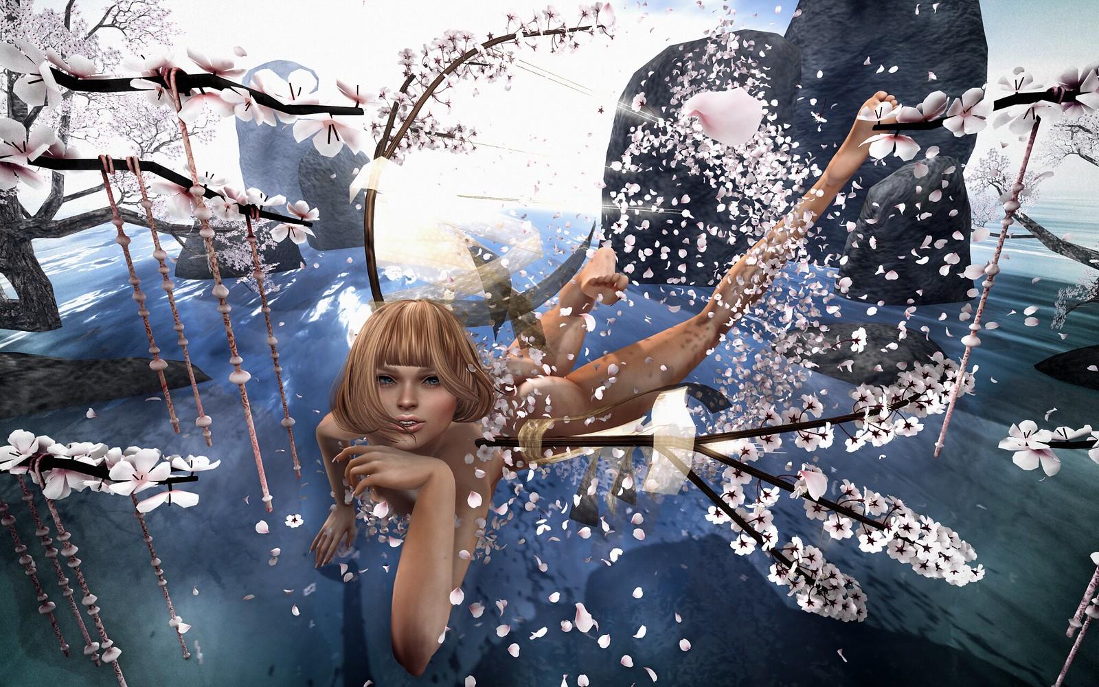 NAMINOKE/ROQUAI Sakura petals for Fantasy Faire