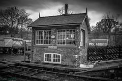 Goathland Signal Box, B&W