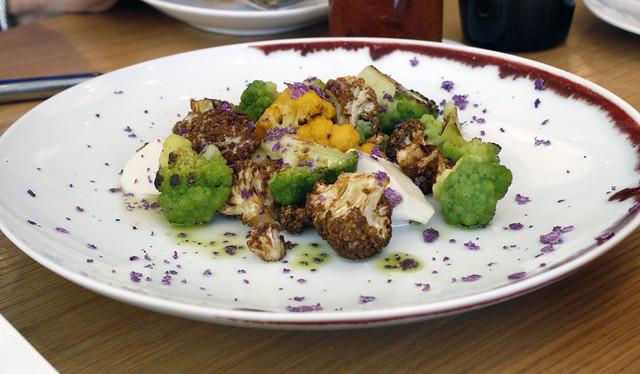Curried Cauliflower with Cardamom Custard