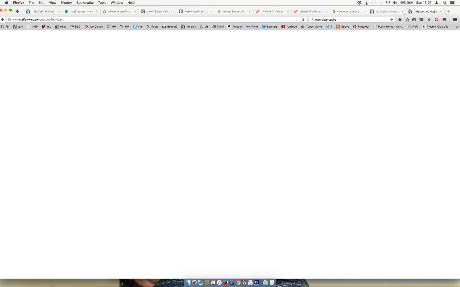 White page when trying to login - vBulletin Community Forum