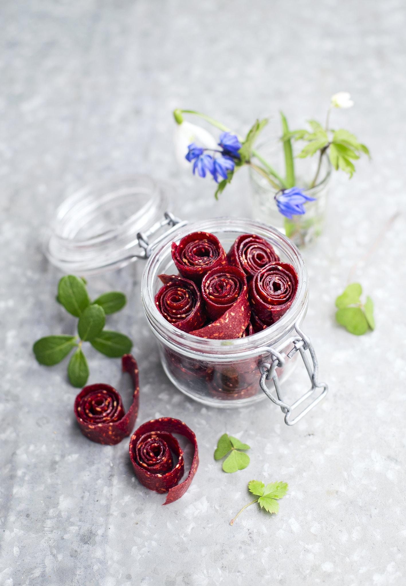 hallon-och-jordgubbsremmar